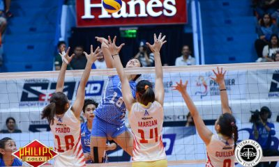 Tiebreaker Times Pocari Sweat dodges Power Smashers upset axe to remain unscathed News PVL Volleyball  Rico De Guzman Regine Arocha Power Smashers Pocari Sweat Lady Warriors Nes Pamilar Myla Pablo Melissa Gohing Mary Pacres Jeanette Panaga Gyzelle Sy 2017 PVL Women's Open Conference 2017 PVL Season