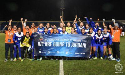 Tiebreaker Times Filipinas join Asian Elite after Bahrain draw Football News Philippine Malditas  Sara Castaneda Inna Palacios Hanna Parado Eva Madarang Bahrain (Football) 2017 AFC Women's Asian Cup Qualifiers