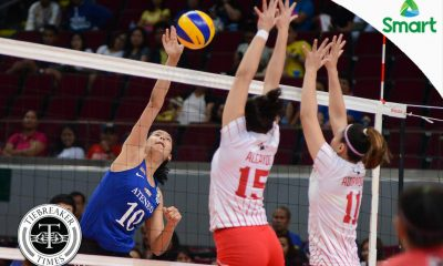 Tiebreaker Times Lady Eagles smother Lady Warriors, set up tie for first seed ADMU News UAAP UE Volleyball  UE Women's Volleyball UAAP Season 79 Women's Volleyball UAAP Season 79 Tai Bundit Shaya Adorador Mary Anne Mendrez Kat Tolentino Jia Morado Gyzelle Tan Francis Vicente Ateneo Women's Volleyball Anne Mendrez