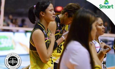Tiebreaker Times Despite ups and downs, Lastimosa thankful with how UST career transpired News UAAP UST Volleyball  UST Women's Volleyball UAAP Season 79 Women's Volleyball UAAP Season 79 Pam Lastimosa