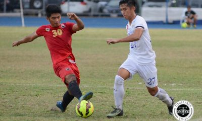 Tiebreaker Times Short-handed Red Warriors close season with three straight wins AdU Football News UAAP UE  UE Men's Football UAAP Season 79 Men's Football UAAP Season 79 Nolan Manito Frank Rieza Fitch Arboleda Carl Viray Bon Opeña Adamson Men's Football