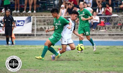 Tiebreaker Times La Salle, UST end elimination round in goalless draw DLSU Football News UAAP UST  UST Men's Football UAAP Season 79 Men's Football UAAP Season 79 Rey Catalino Marjo Allado Kerbi Almonte Hans-Peter Smit DLSU Men's Football