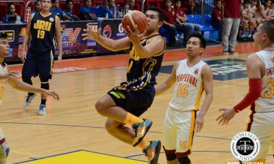 Tiebreaker Times JRU bounces back, scores wire-to-wire win against Perpetual Basketball JRU News UPHSD  Vergel Meneses Teytey Teodoro Perpetual Seniors Basketball Nic Omorogbe JRU Seniors Basketball GJ Ylagan Ervin Grospe Abdoul Poutouochi 2017 Filoil Premier Cup