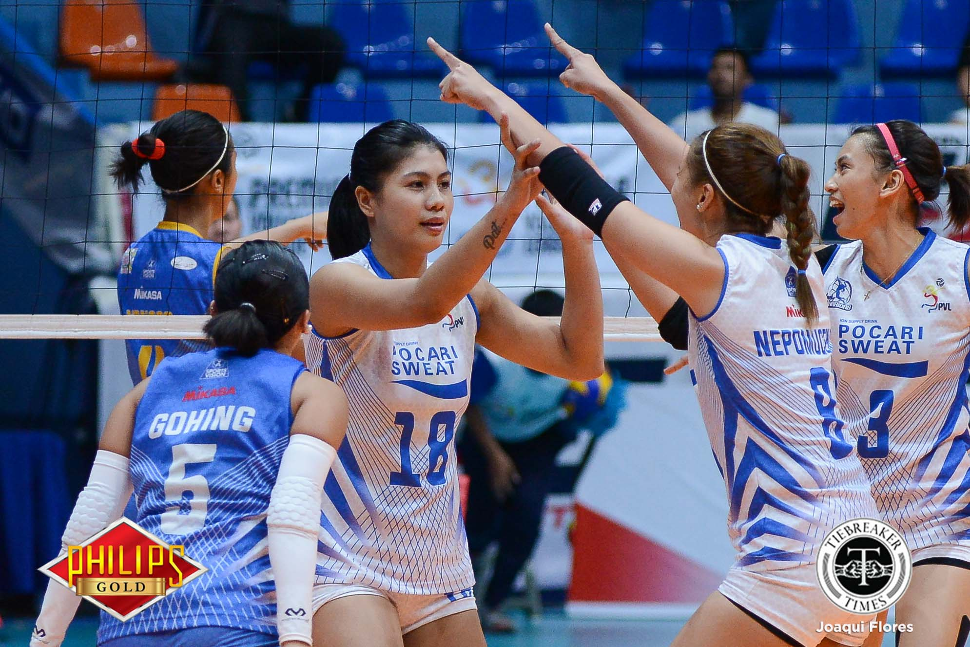 Philippine Sports News - Tiebreaker Times Ailing Myla Pablo questionable for Game 2 News PVL Volleyball  Pocari Sweat Lady Warriors Myla Pablo 2017 PVL Women's Open Conference 2017 PVL Season