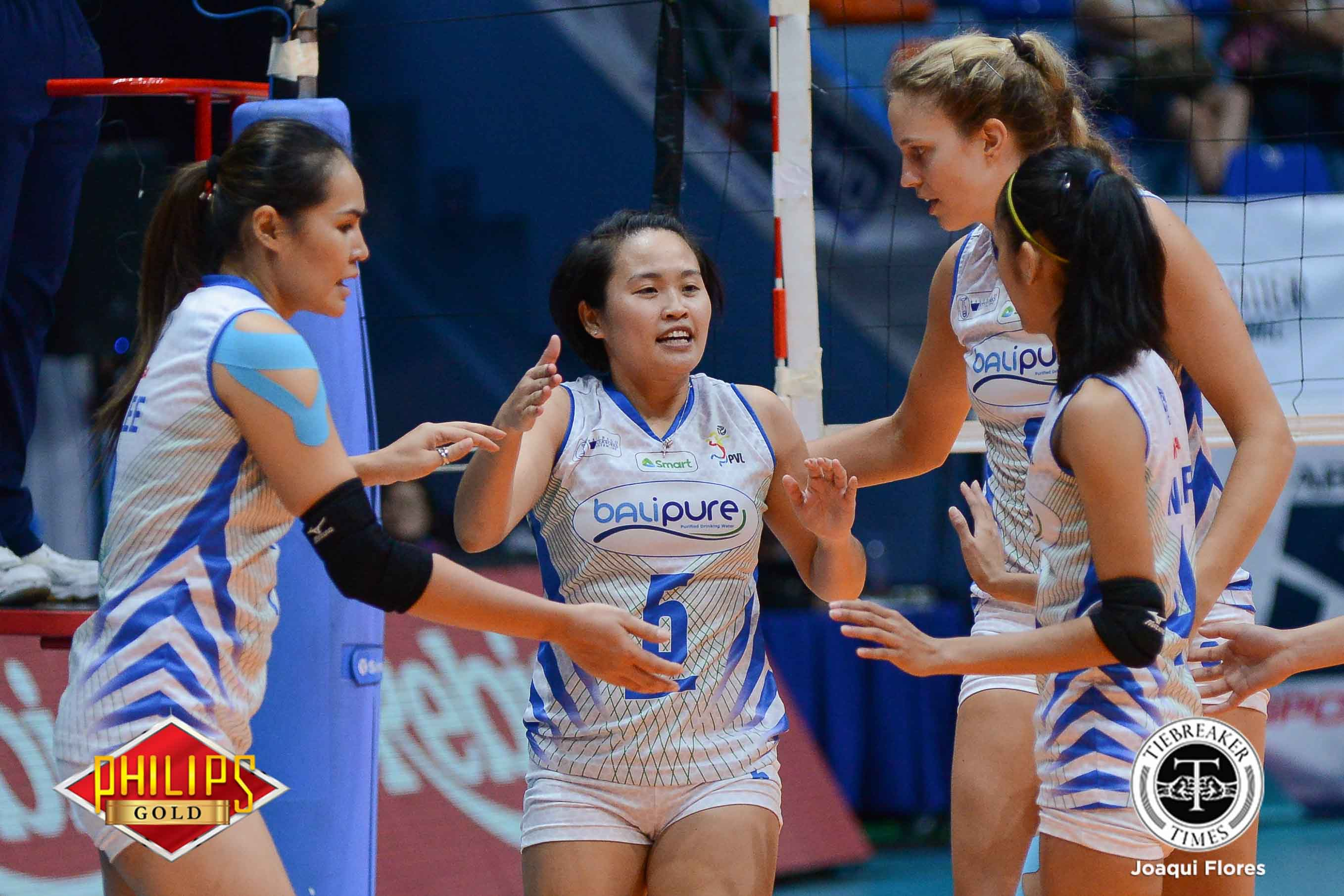 Tiebreaker Times Gorayeb, Bali Pure seek respite after frantic chase for semis seat News PVL Volleyball  Roger Gorayeb Bali Pure Purest Water Defenders 2017 PVL Women's Reinforced Conference 2017 PVL Season