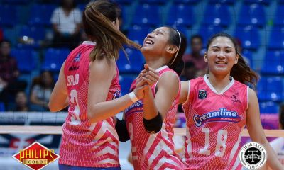 Tiebreaker Times Creamline escapes Air Force to snap two-game slide News PVL Volleyball  Tai Bundit Pau Soriano Joy Cases Jonalyn Ibisa Jocemer Tapic Jasper Jimenez Creamline Cool Smashers Alyssa Valdez Alex Cabanos Air Force Jet Spikers 2017 PVL Women's Reinforced Conference 2017 PVL Season