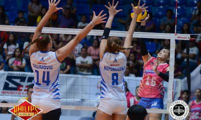 Tiebreaker Times Import-sweetened Creamline freezes Pocari Sweat's win streak News PVL Volleyball  Rommel Abella Pocari Sweat Lady Warriors Oliver Almadro Michelle Strizak Kuttika Kaewpin Jonalyn Ibisa Edina Selimovic Creamline Cool Smashers Alyssa Valdez Alex Cabanos 2017 PVL Women's Reinforced Conference 2017 PVL Season