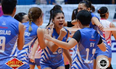Tiebreaker Times Pocari Sweat disarms short-handed Power Smashers for fourth-straight win News PVL Volleyball  Rommel Abella Pocari Sweat Lady Warriors Pocari Sweat Nes Pamilar Myla Pablo Melissa Gohing Mary Pacres Joyce Sta. Rita Gyzelle Sy Elaine Kasilag 2017 PVL Women's Reinforced Conference 2017 PVL Season