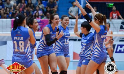 Tiebreaker Times Pocari Sweat evades another collapse against Creamline News PVL Volleyball  Tai Bundit Rommel Abella Pocari Sweat Lady Warriors Myla Pablo Michelle Strizak Melissa Gohing Gyzelle Sy Kuttika Kaewpin Creamline Cool Smashers Alyssa Valdez 2017 PVL Women's Reinforced Conference 2017 PVL Season