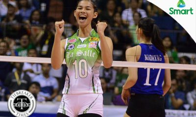 Tiebreaker Times MVP Baron takes criticism in stride DLSU News UAAP Volleyball  UAAP Season 79 Women's Volleyball UAAP Season 79 Majoy Baron DLSU Women's Volleyball