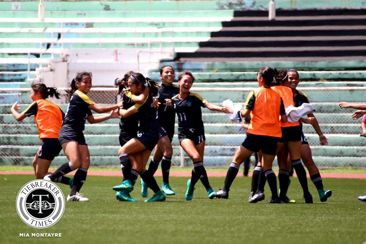 Tiebreaker Times UST returns to Finals after thriller against Ateneo ADMU Football News UAAP UST  UST Women's Football UAAP Season 79 Women's Football UAAP Season 79 Nicole Reyes Nica Siy MJ Indac Mariane Caparros John Paul Merida Hazel Lustan Christelle Cleofe Charisa Lemoran Camille Rodriguez Ateneo Women's Football Aging Rubio