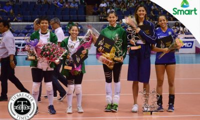 Tiebreaker Times UAAP Season 79 Volleyball Awarding Ceremony ADMU DLSU FEU News NU UAAP UE Volleyball  UAAP Season 79 Women's Volleyball UAAP Season 79 MVP UAAP Season 79 Men's Volleyball UAAP Season 79 Rikko Marmeto Ricky Marcos Marck Espejo Majoy Baron Kim Fajardo Kath Arado Jules Samonte JP Bugaoan Jaja Santiago Ish Polvorosa Dawn Macandili Chumason Njigha Bryan Bagunas