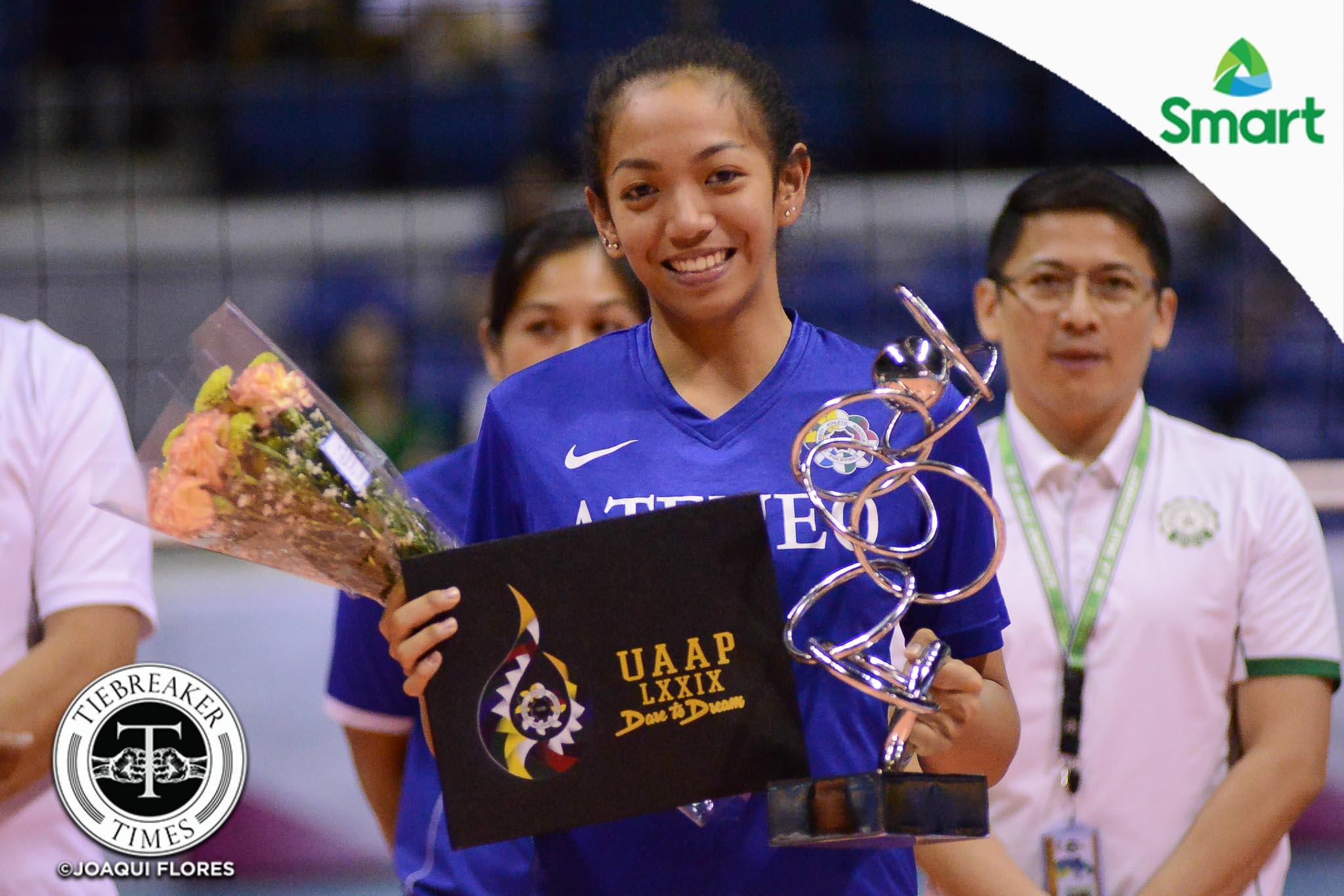 UAAP-79-Womens-Volleyball-Awarding-Samonte-6978 Jules Samonte bids Ateneo farewell: 'On to the next' ADMU News UAAP Volleyball  - philippine sports news