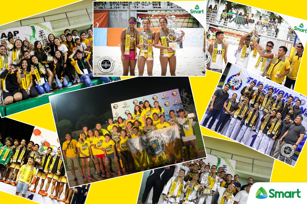 Tiebreaker Times UST regains General Championship ADMU AdU Badminton Baseball Basketball Chess DLSU Fencing FEU Football Judo News NU Softball Swimming Table Tennis Taekwondo Tennis Track & Field UAAP UE UP UST Volleyball  UST Women's Volleyball UST Women's Track and Field UST Women's Judo UST Men's Volleyball UST Men's Table Tennis UST Men's Judo UP Women's Swimming UP Women's Badminton UE Women's Fencing UE Men's Tennis UE Men's Fencing UAAP Season 79 NU Women's Tennis NU Women's Taekwondo NU Women's Basketball FEU Women's Chess FEU Men's Track and Field DLSU Women's Volleyball DLSU Women's Taekwondo DLSU Women's Table Tennis DLSU Women's Football DLSU Men's Taekwondo DLSU Men's Basketball Ateneo Men's Volleyball Ateneo Men's Swimming Ateneo Men's Football Ateneo Baseball Adamson Softball