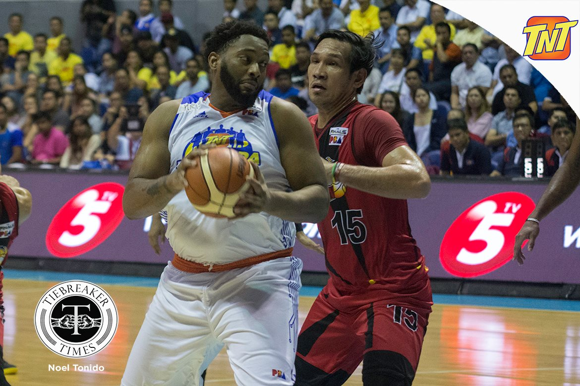 Philippine Sports News - Tiebreaker Times Joshua Smith set to arrive on May 25, TNT exec confirms Basketball News PBA  Virgil Villavicencio Troy Rosario TNT Katropa PBA Season 43 Joshua Smith 2018 PBA Commissioners Cup