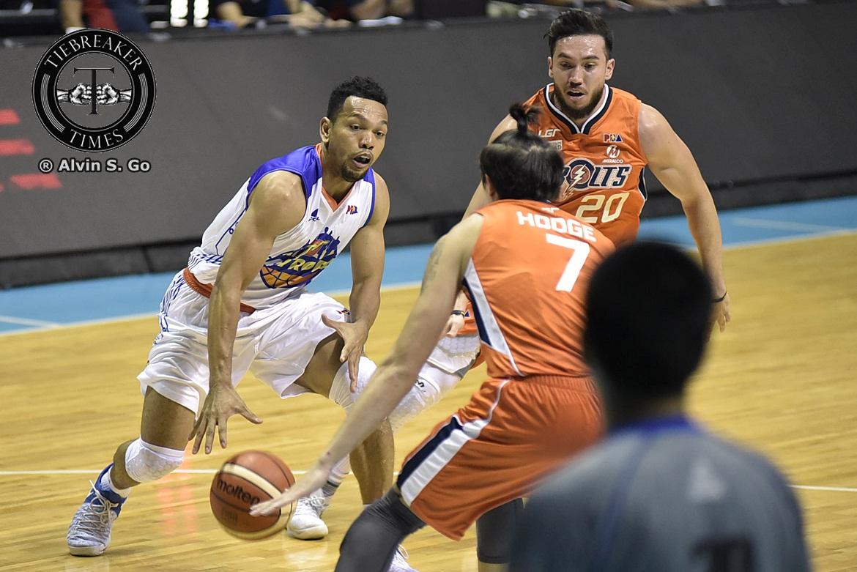 Tiebreaker Times Castro downplays foul-plagued game, outburst: 'Natural lang yun' Basketball News PBA  TNT Katropa PBA Season 42 Jayson Castro 2017 PBA Commissioners Cup