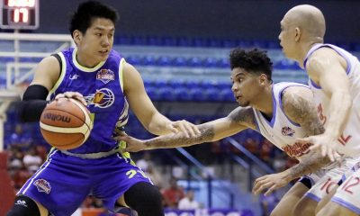 Tiebreaker Times Clutch heroics from flu-hit Teng lifts Flying V to 4-0 slate Basketball News PBA D-League  Pao Javelona Mark Isip Marinerong Pilipino Koy Banal Julian Sargent Jeron Teng Hans Thiele Flying V Thunder Eric Salamat Eric Altamirano 2017 PBA D-League Season 2017 PBA D-League Foundation Cup