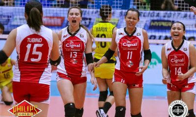 Tiebreaker Times Unblemished Cignal sends F2 Logistics to 0-2 hole News PSL Volleyball  Royse Tubino Ramil De Jesus Rachel Daquis Majoy Baron Jovelyn Gonzaga Jheck Dionela George Pascua Cignal HD Spikers Chie Saet 2017 PSL Season 2017 PSL All Filipino Conference