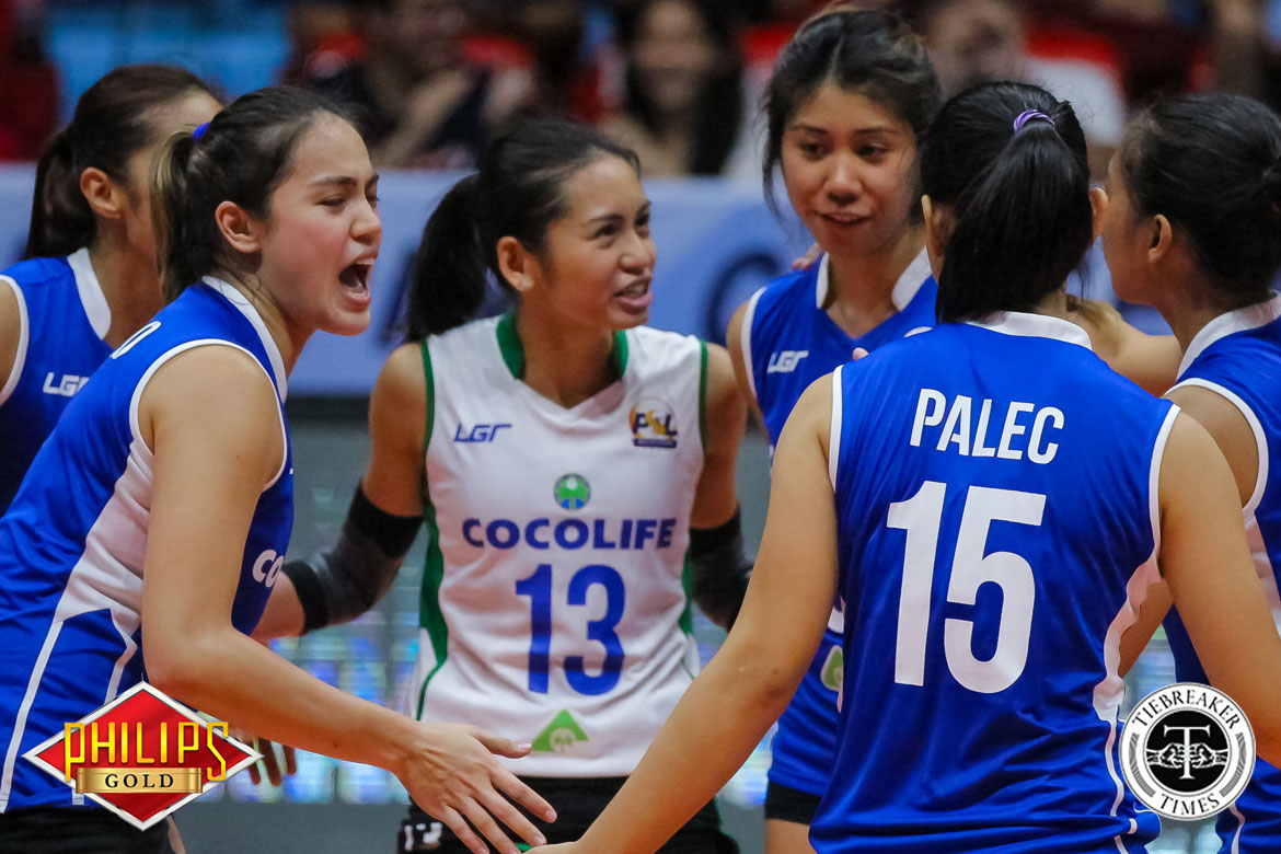 Philippine Sports News - Tiebreaker Times Gumabao carries Cocolife in sweep of Cherrylume News PSL Volleyball  Michele Gumabao Mary Anne Mendrez Lerma Giron Kungfu Reyes Denden Lazaro Cocolife Asset Managers Cherrylume Iron Lady Warriors Angelica Cayuna 2017 PSL Season 2017 PSL All Filipino Conference
