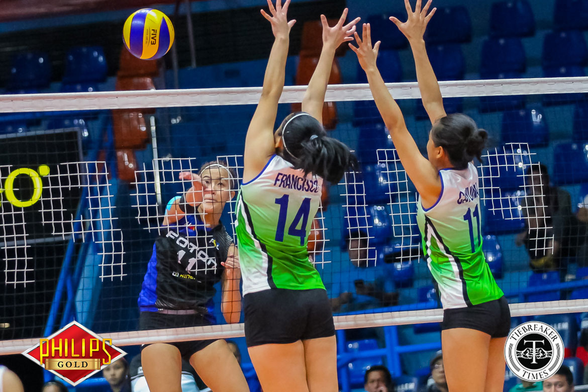 Philippine Sports News - Tiebreaker Times Foton barges into Pool C with 3-0 slate after sweep of Cocolife News PSL Volleyball  Moro Branislav Michele Gumabao Kungfu Reyes Jen Reyes Jaja Santiago Ivy Perez Foton Tornadoes EJ Laure Cocolife Asset Managers 2017 PSL Season 2017 PSL All Filipino Conference