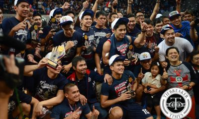 Tiebreaker Times Ayo and the everlasting bond of the 2015 Knights Basketball CSJL News  Rey Nambatac McJour Luib Mark Cruz Letran Seniors Basketball Kevin Racal Jom Sollano Aldin Ayo 2017 Filoil Premier Cup