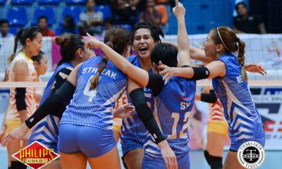 Tiebreaker Times Pocari Sweat survives Power Smashers flurry to take Game One News PVL Volleyball  Rommel Abella Power Smashers Pocari Sweat Lady Warriors Nes Pamilar Myla Pablo Michelle Strizak Melissa Gohing Kannika Thipachot Hyapa Amporn Gyzelle Sy 2017 PVL Women's Reinforced Conference 2017 PVL Season