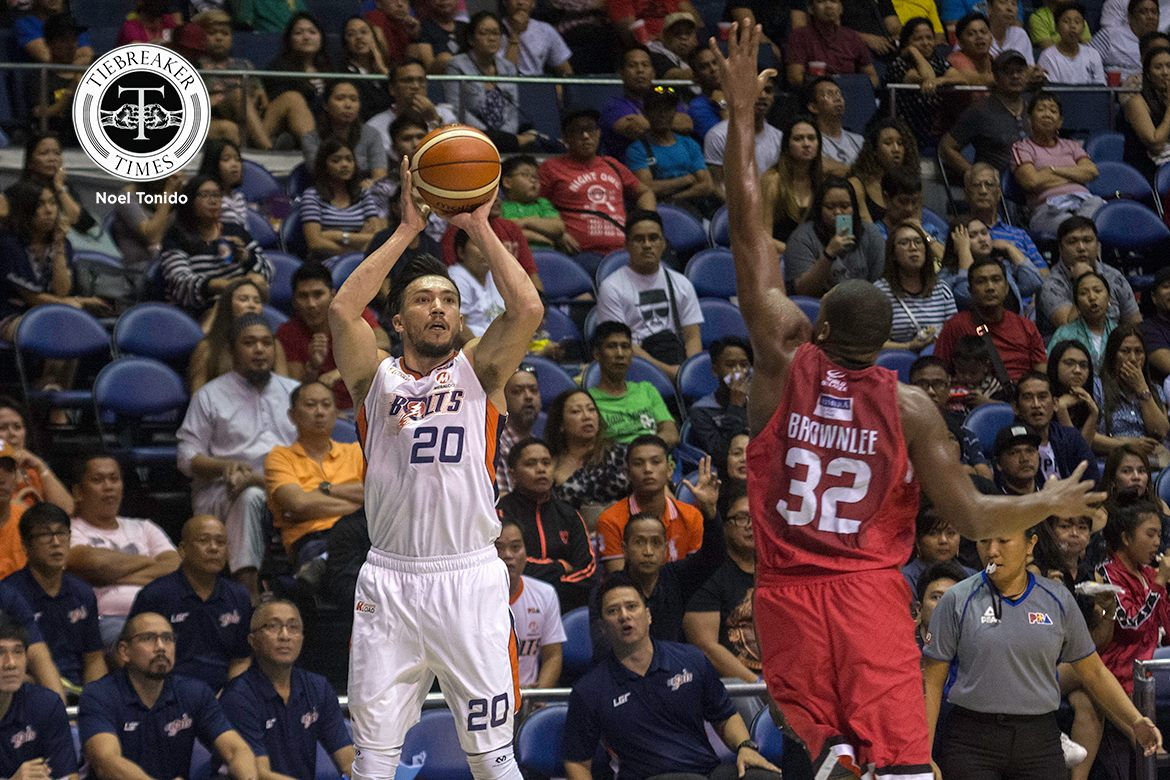 Philippine Sports News - Tiebreaker Times Jared Dillinger vows Ginebra-Meralco II is 'going to be a war' Basketball News PBA  PBA Season 42 Meralco Bolts Jared Dillinger 2017 PBA Governors Cup