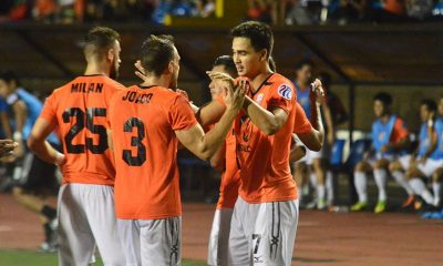 Tiebreaker Times PFL Roundup: Meralco-Manila extends league lead; In-form Global-Cebu climbs to second Football News PFL  Stephan Schrock Stallion-Laguna FC Sper Herrera Shu Sasaki Satoshi Otomo Robert Lopez Mendy Patrick Reichelt OJ Perteria Nikola Grubjesic Nelson Gasic Misagh Bahadoran Kenshiro Daniels Kaya FC-Makati JP Voltes-Marikina FC Joven Bedic Jeffrey Christiaens James Younghusband Ilocos United FC Global-Cebu FC Fernando Rodriguez FC Meralco Manila Eric Giganto Dominic Del Rosario Davao Aguilas Ceres-Negros FC Ben Tolete Alfred Osei 2017 PFL Season