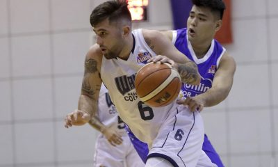 Tiebreaker Times Herndon, Wangs romp AMA for fifth win Basketball News PBA D-League  Wangs Basketball Couriers Robbie Herndon Renzo Subido Pablo Lucas Michael Juico Mark Herrera John Montemayor Embons Bonleon AMA Online Education Titans 2017 PBA D-League Season 2017 PBA D-League Foundation Cup