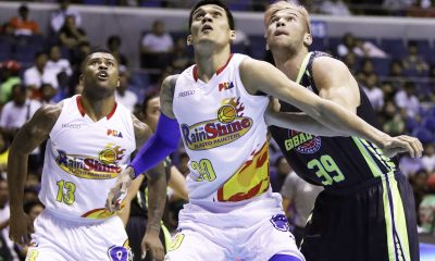 Tiebreaker Times Rain or Shine catches break, holds off Globalport Basketball News PBA  Terrence Romeo Stanley Pringle Sean Anthony Raymond Almazan Rain or Shine Elasto Painters PBA Season 42 Maverick Ahanmisi James Weatherspoon Globalport Batang Pier Franz Pumaren Caloy Garcia 2017 PBA Governors Cup