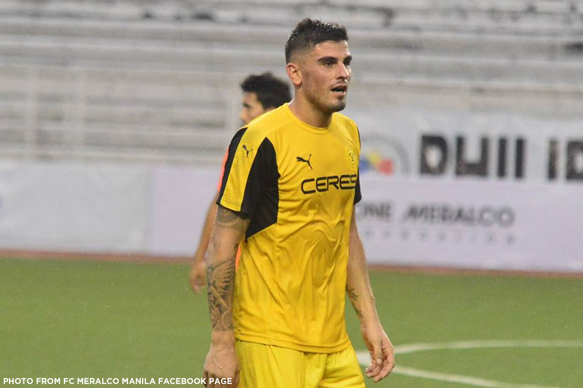 Tiebreaker Times PFL Roundup: Ceres-Negros trashes league-leading Meralco Manila Football News PFL  Stephan Schrock Stallion-Laguna FC Robert Lopez Mendy Risto Vidakovic Kaya FC-Makati JP Voltes-Marikina FC Jordan Mintah Jhan-Jhan Meliza Ilocos United FC Iain Ramsay Global-Cebu FC Fernando Rogriguez FC Meralco Manila Davao Aguilas Chima Uzoka Ceres-Negros FC Aris Caslib 2017 PFL Season