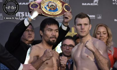 Tiebreaker Times Battle of Brisbane set: Manny Pacquiao, Jerwin Ancajas make weight Boxing News  Top Rank Promotions Manny Pacquiao vs Jeff Horn Manny Pacquiao Jonel Dapidran Jerwin Ancajas
