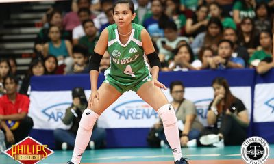 Tiebreaker Times Paneng Mercado introduces self to new generation of fans DLSU News Volleyball  Paneng Mercado DLSU Women's Volleyball Battle of the Rivals