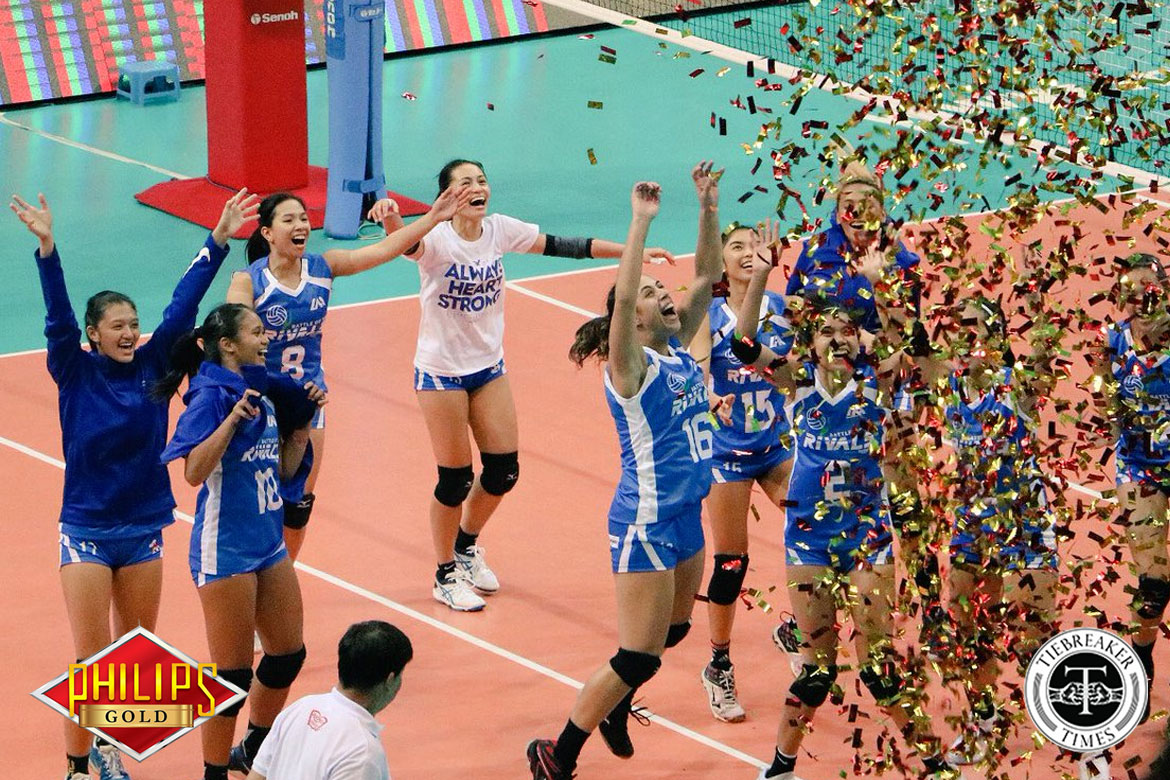 Tiebreaker Times Battle of the Rivals raises over 3M for Rebisco scholars ADMU DLSU News Volleyball  Melissa Gohing DLSU Women's Volleyball Battle of the Rivals Ateneo Women's Volleyball Alyssa Valdez