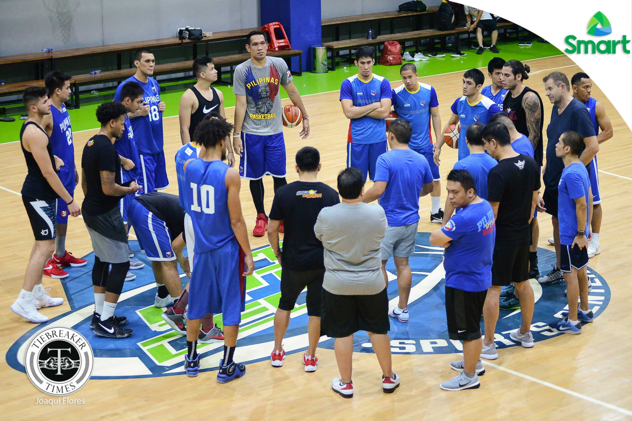 Philippine Sports News - Tiebreaker Times Building chemistry is SMART Gilas' main objective in Tagaytay camp 2019 FIBA World Cup Qualifiers Basketball Gilas Pilipinas News  Chot Reyes 2019 FIBA World Cup Qualifiers Group B