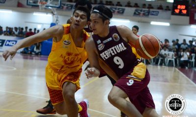 Tiebreaker Times Perpetual raids Mapua for first win Basketball MIT NCAA News UPHSD  Prince Eze Perpetual Seniors Basketball NCAA Season 93 Seniors Basketball NCAA Season 93 Mapua Seniors Basketball Leo Gabo Jimwell Gican GJ Ylagan Daryl Singontiko Atoy Co Andoy Estrella Almel Orquina AJ Coronel