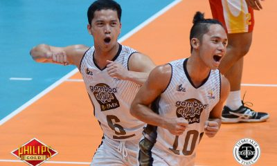 Tiebreaker Times Gamboa Coffee notches breakthrough win at Cafe Lupe's expense News PVL Volleyball  Rod Palmero Raven Evangelista Paolo Lim Mark Egan Mario Mia Joshua Castillo John Millete Gamboa Coffee Spikers Dion Canlas Cafe Lupe Sunrisers Angelino Pertierra Alfredo Pagulong 2017 PVL Women's Open Conference 2017 PVL Season