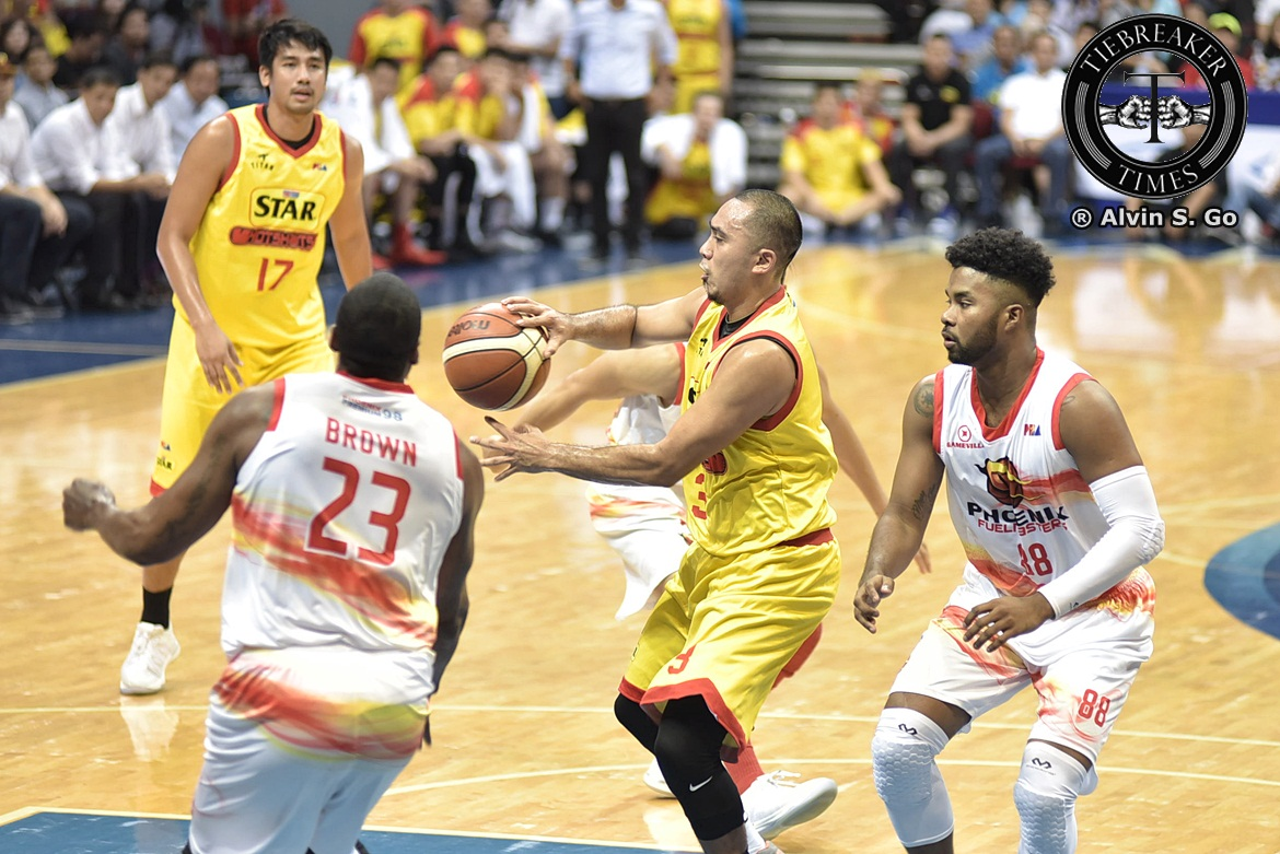 Tiebreaker Times Star goes 4-0, sends Phoenix to five-game skid Basketball News PBA  Star Hotshots Phoenix Fuel Masters PBA Season 42 Paul Lee Malcolm Hill Jeff Chan Ian Sangalang Chito Victolero Brandon Brown Ariel Vanguardia Aldrech Ramos 2017 PBA Governors Cup