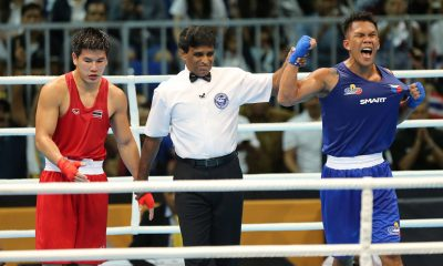 Tiebreaker Times Dominant wins for Eumir Marcial and John Tupas close boxing campaign 2017 SEA Games Boxing News  Mario Fernandez John Marvin Tupas Ian Clark Bautista Eumir Marcial Charly Suarez 2017 SEA Games - Boxing