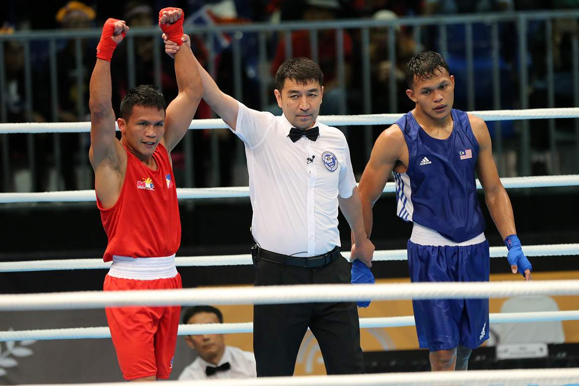 Tiebreaker Times Charly Suarez, Mario Fernandez on track for boxing gold 2017 SEA Games Boxing News  Mario Fernandez Charly Suarez carlo paalam 2017 SEA Games - Boxing