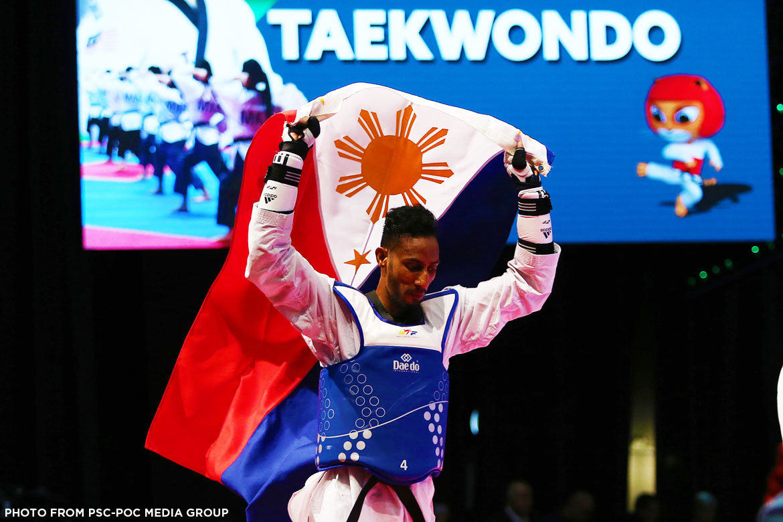 Philippine Sports News - Tiebreaker Times Samuel Morrison avenges team, wins -74kg crown 2017 SEA Games News Taekwondo  Samuel Morrison Pauline Lopez Arven Alcantara 2017 SEA Games - Taekwondo