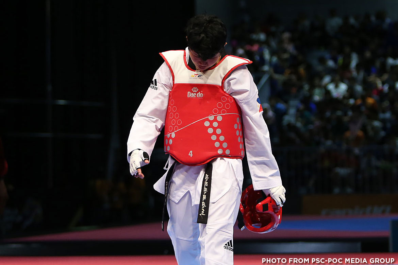 Philippine Sports News - Tiebreaker Times Kirstie Alora succumbs to familiar Cambodian foe 2017 SEA Games News Taekwondo  Kirstie Alora Francis Agojo 2017 SEA Games - Taekwondo