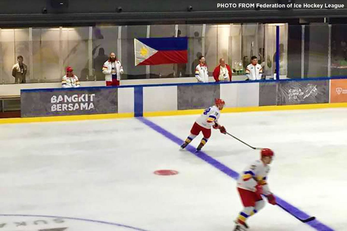 Tiebreaker Times Carl Montano sends Philippines to battle for ice hockey gold 2017 SEA Games Ice Hockey News  Paul Sanchez Paolo Spafford John Steven Fuglister Carl Montano 2017 SEA Games - Ice Hockey