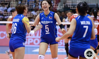 Tiebreaker Times Mika Reyes set to miss SEA GP due to knee injury News Volleyball  Shaq delos Santos Mika Reyes 2019 Southeast Asian Grand Prix