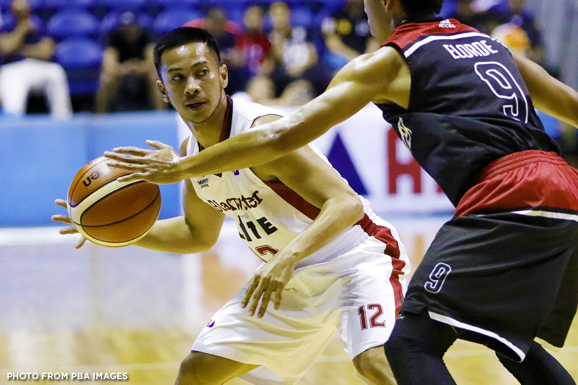 Philippine Sports News - Tiebreaker Times Still a lot of work to do even after career night, says Roi Sumang Basketball News PBA  Roi Sumang PBA Season 42 Blackwater Elite 2017 PBA Governors Cup