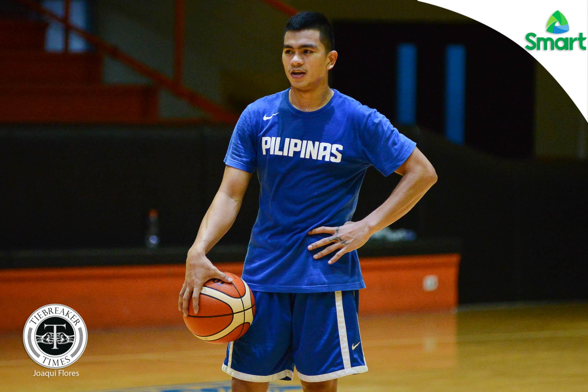 Philippine Sports News - Tiebreaker Times Jio Jalalon happy to spend birthday with 'third family' in Gilas Basketball Gilas Pilipinas News  Star Hotshots Jiovani Jalalon 2017 FIBA Asia Cup