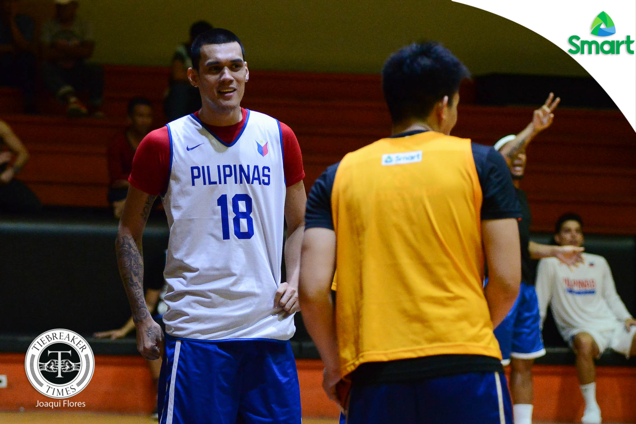 Philippine Sports News - Tiebreaker Times Birthday boy Almazan glad to have Gilas buddy Abueva back Basketball Gilas Pilipinas News PBA  Raymond Almazan Rain or Shine Elasto Painters Calvin Abueva Alaska Aces 2017 FIBA Asia Cup