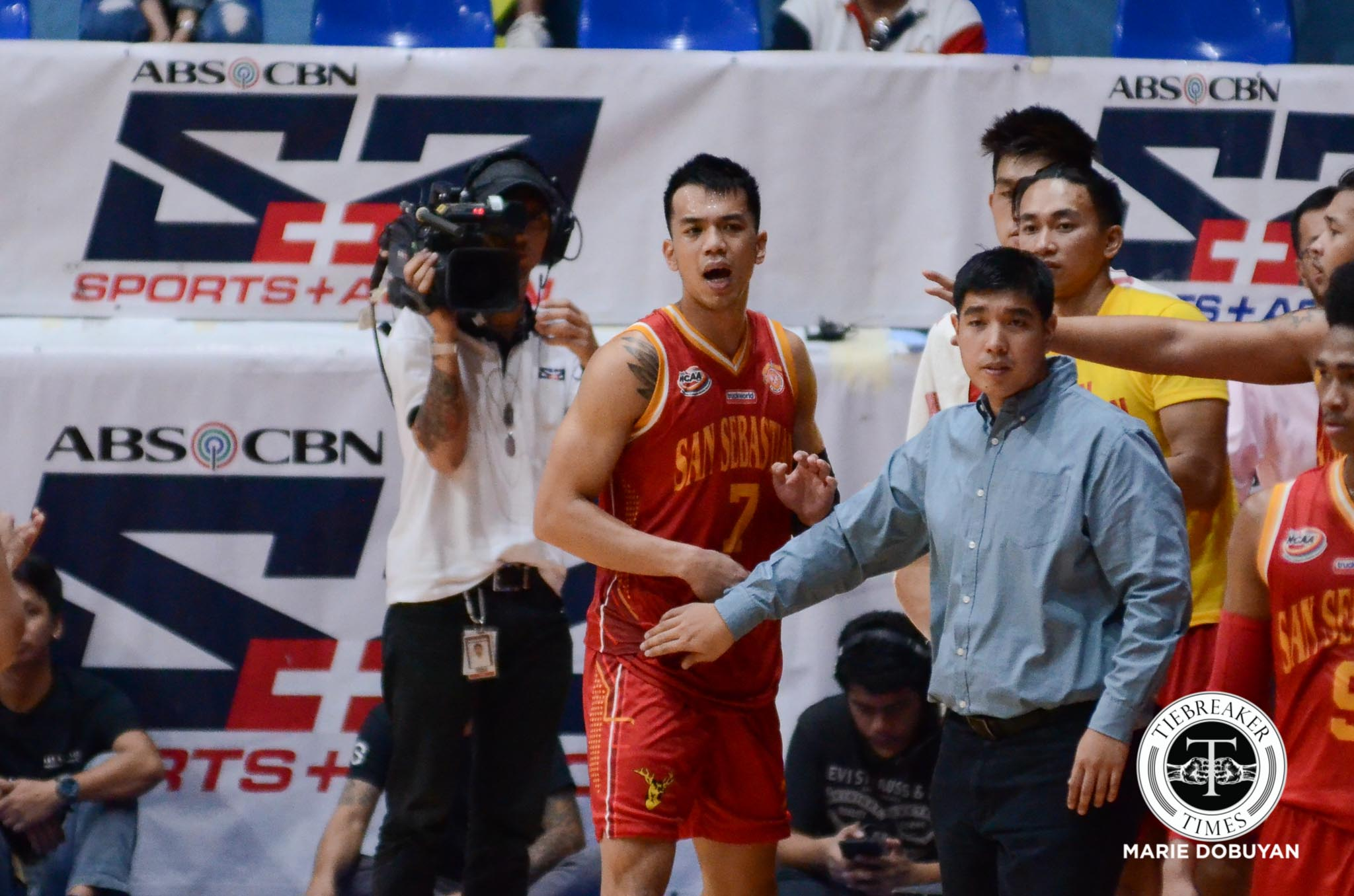 Philippine Sports News - Tiebreaker Times With suspension looming, Michael Calisaan laments not being able to play in homecourt Basketball NCAA News SSC-R  San Sebastian Seniors Basketball NCAA Season 93 Seniors Basketball NCAA Season 93 Michael Calisaan