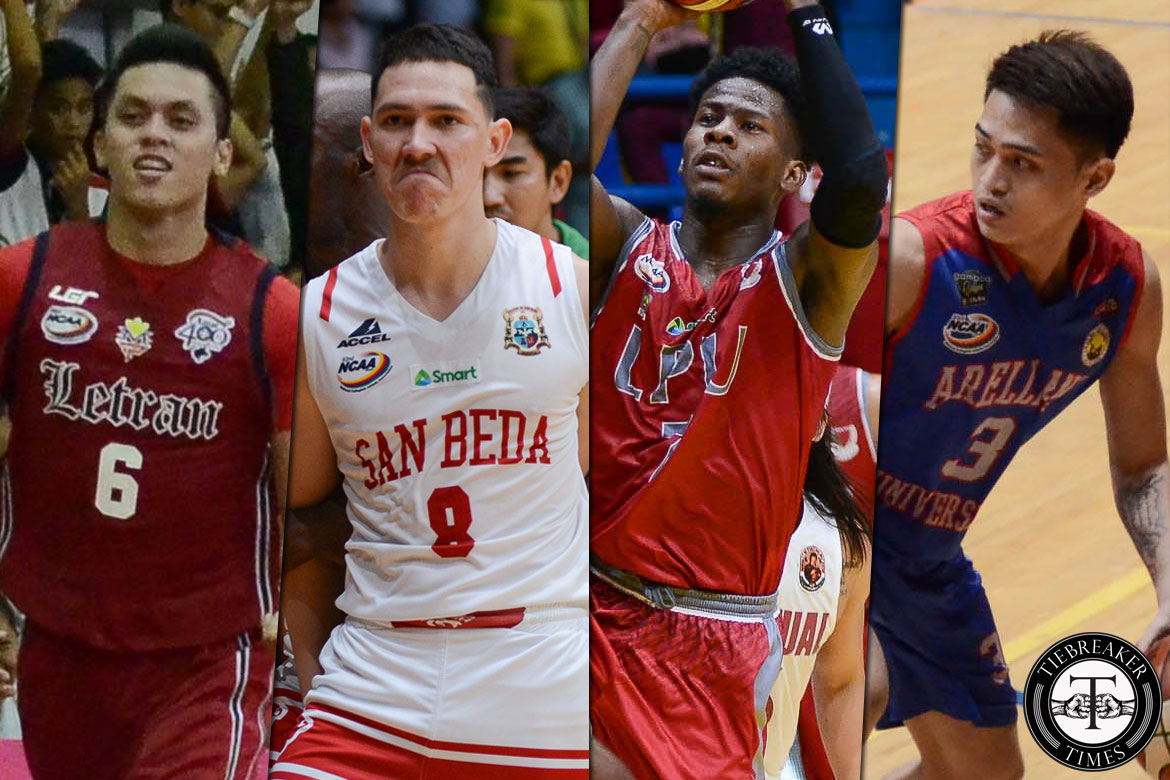 Philippine Sports News - Tiebreaker Times Bolick, Nambatac power Saints while Perez, Salado back Heroes in NCAA All-Star AU Basketball CSB CSJL EAC JRU LPU MIT NCAA News SBC SSC-R UPHSD  Topex Robinson Teytey Teodoro Sidney Onwubere San Sebastian Seniors Basketball San Beda Seniors Basketball Saint Benilde Seniors Basketball Robert Bolick Rey Nambatac Prince Eze Perpetual Seniors Basketball NCAA Season 93 Seniors Basketball NCAA Season 93 NCAA Season 91 MJ Ayaay Mike Nzeusseu Lyceum Seniors Basketball Letran Seniors Basketball Lervin Flores Laurenz Victoria Kevin Baytan Kent Salado JRU Seniors Basketball JP Calvo JJ Domingo Jerome Garcia JB Raflores Javee Mocon Ian Valdez GJ Ylagan Gio Lasquety Gerard Castor Gab Dagangon Francis Munsayac Ervin Grospe Edward Dixon EAC Seniors Basketball Davon Potts CJ Perez Christian Bunag Boyet Fernandez Bong Quinto Alvin Baetiong Allen Enriquez