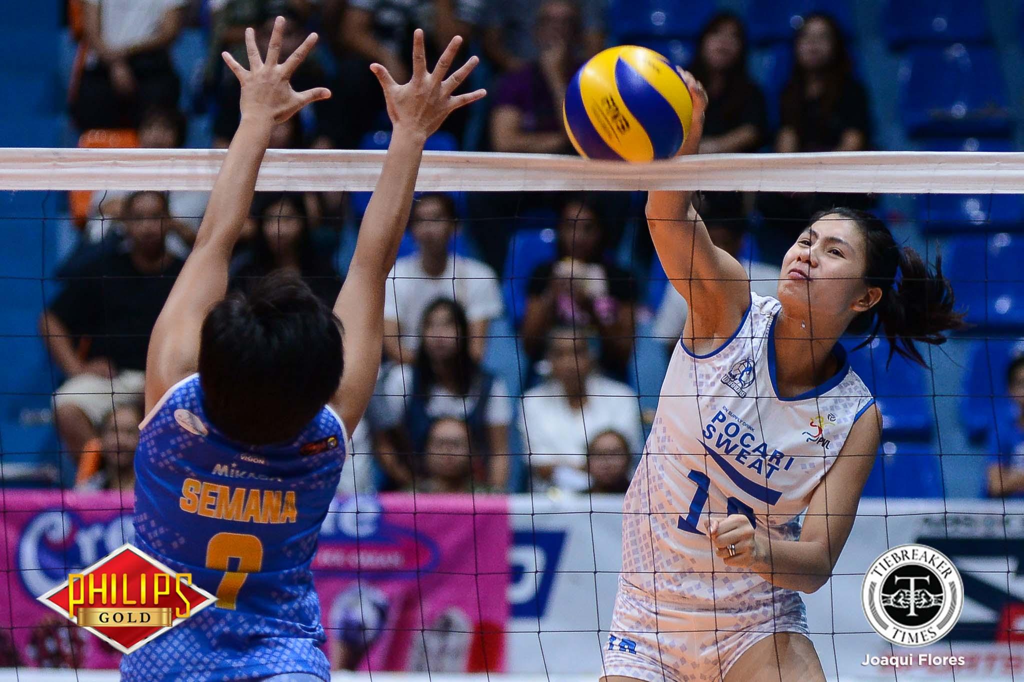 Philippine Sports News - Tiebreaker Times Pocari Sweat's battlecry: 'Ngayon pa ba tayo susuko?' News PVL Volleyball  Pocari Sweat Lady Warriors Myla Pablo 2017 PVL Women's Open Conference 2017 PVL Season